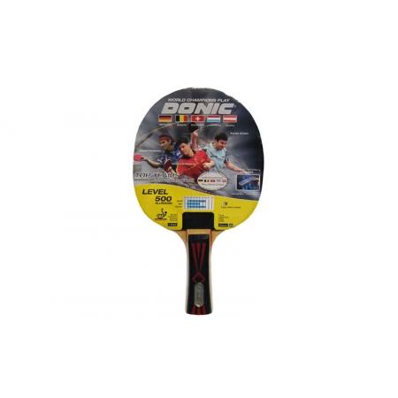 Ракетка для настольного тенниса DONIC (1шт) LEVEL 500 MT-725043 TOP TEAMS (древесина, резина)