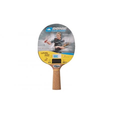 Ракетка для настольного тенниса DONIC (1шт) LEVEL 500 MT-728450 BAT PERSSON (древесина, резина)