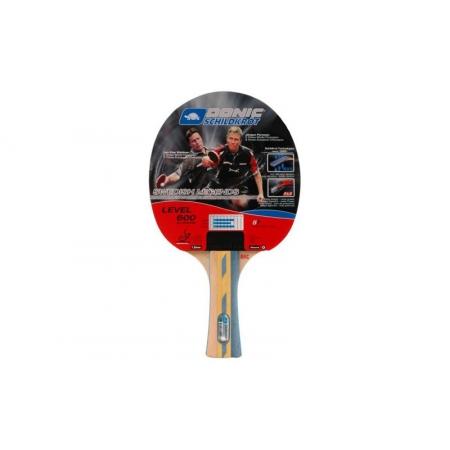 Ракетка для настольного тенниса DONIC (1шт) LEVEL 600 MT-733207 SWEDISH LEGENDS (древесина, резина)