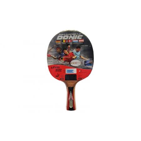 Ракетка для настольного тенниса DONIC (1шт) LEVEL 600 MT-733235 TOP TEAM (древесина, резина)
