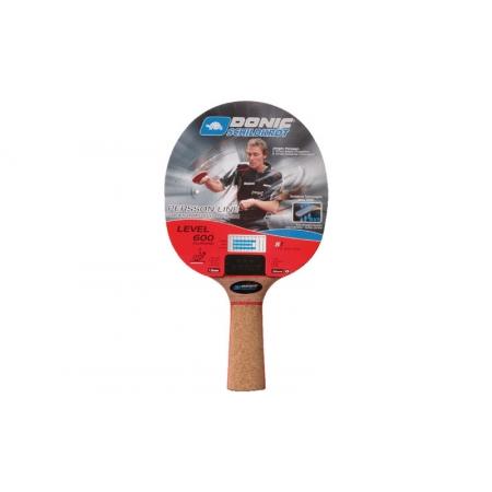 Ракетка для настольного тенниса DONIC (1шт) LEVEL 600 MT-738460 BAT PERSSON (древесина, резина)