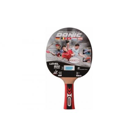 Ракетка для настольного тенниса DONIC (1шт) LEVEL 800 MT-754193 TOPTEAM ATTACK (древесина, резина)