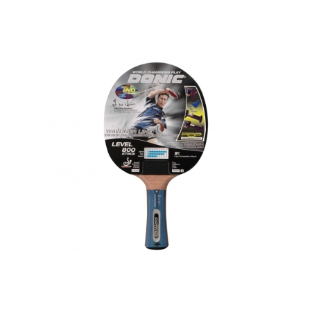 Ракетка для настольного тенниса DONIC (1шт) LEVEL 800 MT-754881 WALDNER ATTACK (древесина, резина)