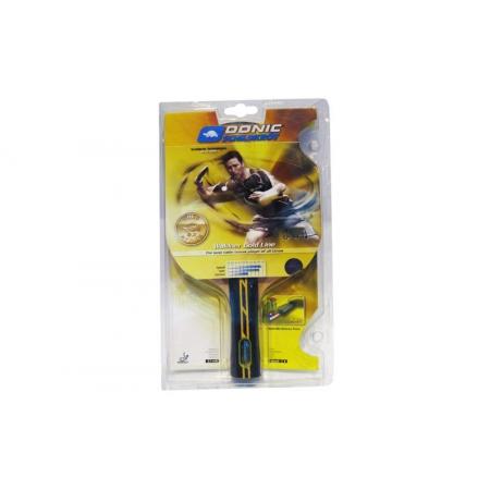 Ракетка для настольного тенниса DONIC (1шт) MT-758185 GOLD ATTACK (древесина, резина)