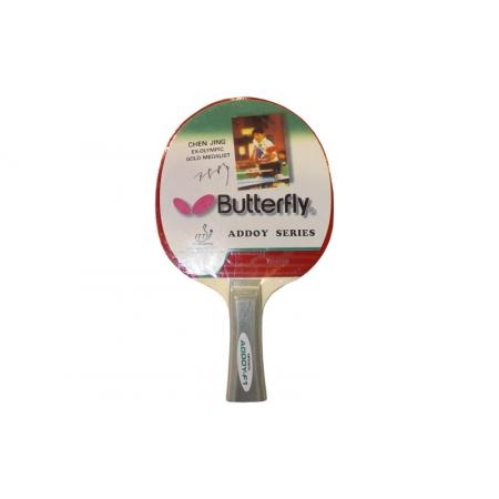 Ракетка для настольного тенниса Дубл. Butterfly (1шт) MT-4427 Addoy-F1 3star (древесина, резина)