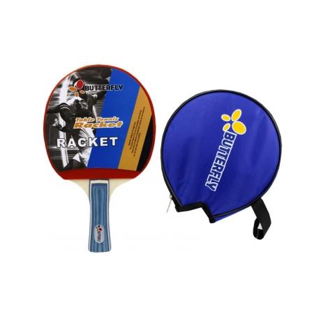 Ракетка для настольного тенниса Дубл. Butterfly (1шт+PVC чехол) 850 (древесина, резина)