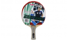 Ракетка для настольного тенниса Дубл. Butterfly Addoy-Y (1шт+картон. короб.) BT-4873 (древесина, резина)