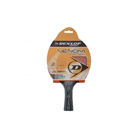 Ракетка для настольного тенниса DUNLOP (1шт) 679150 VENOM CONTROL TT-BAT (древесина, резина)