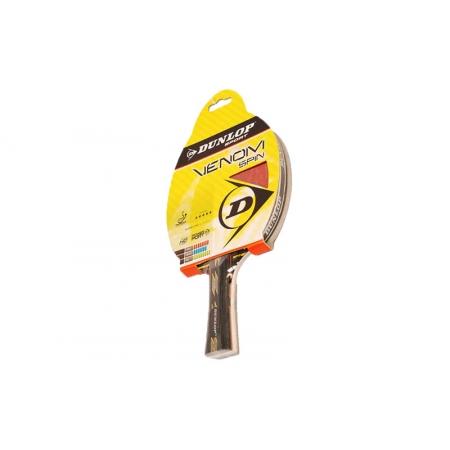 Ракетка для настольного тенниса DUNLOP (1шт) 679153 VENOM SPIN TT-BAT (древесина, резина)
