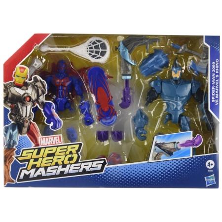 Разборные фигурки супер-героев Марвел Spider-Man & Rhino (Человек-Паук и Рино), Marvel, Hasbro, Spider-Man & Rhino, A8159-1