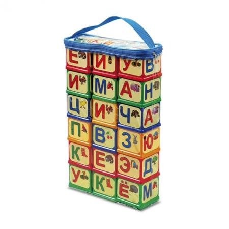 Развивающие кубики Азбука, рус яз, Юніка, 0620