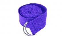 Ремень для йоги FI-4943-1 (полиэстер+хлопок, р-р 183 x 3,8см, сиреневый, 1уп-1шт, цена за 1шт)