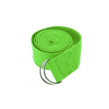 Ремень для йоги FI-4943-2 (полиэстер+хлопок, р-р 183 x 3,8см, салатовый, 1уп-1шт, цена за 1шт)