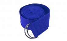 Ремень для йоги FI-4943-3 (полиэстер+хлопок, р-р 183 x 3,8см, синий, 1уп-1шт, цена за 1шт)