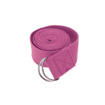 Ремень для йоги FI-4943-4 (полиэстер+хлопок, р-р 183 x 3,8см, розовый, 1уп-1шт, цена за 1шт)