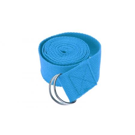 Ремень для йоги FI-4943-5 (полиэстер+хлопок, р-р 183 x 3,8см, голубой, 1уп-1шт, цена за 1шт)