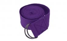 Ремень для йоги FI-4943-6 (полиэстер+хлопок, р-р 183 x 3,8см, фиолетовый, 1уп-1шт,цена за 1шт)