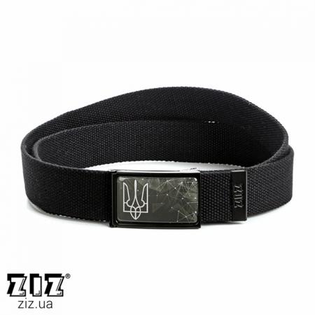 Ремень тканевый Герб, ZIZ-2903601 (черн, бел, хаки, коричн, син, сер)