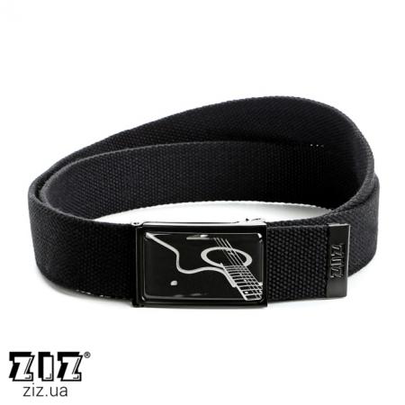 Ремень тканевый Гитара, ZIZ-2900901 (черн, бел, хаки, коричн, син, сер)