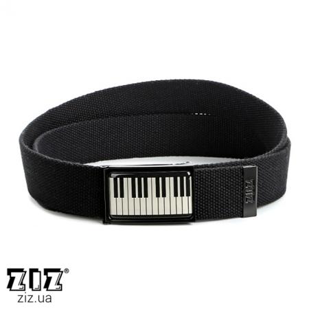 Ремень тканевый Клавиши пианино, ZIZ-2901201 (черн, бел, хаки, коричн, син, сер)