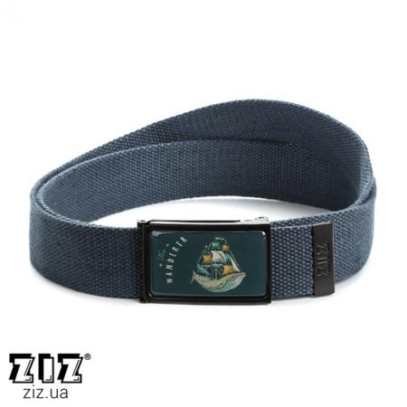 Ремень тканевый Странник, ZIZ-2902505 (черн, бел, хаки, коричн, син, сер)