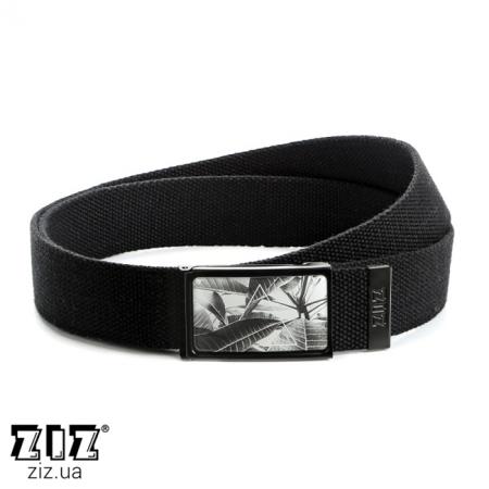 Ремень тканевый Тропический, ZIZ-2903801 (черн, бел, хаки, коричн, син, сер)