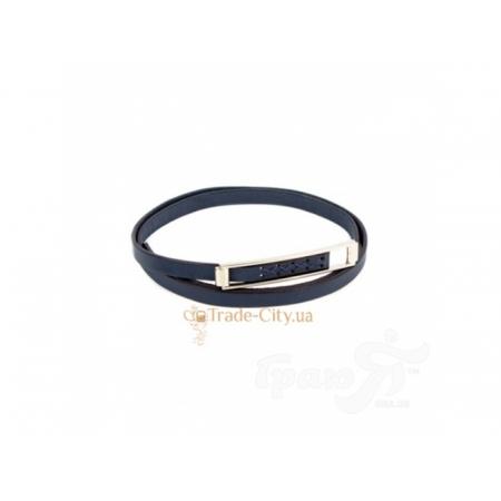 Ремень узкий женский кожаный ETERNO (ЭТЕРНО) A0348-navy ETERNO