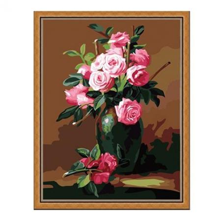 Рисование по номерам. Картина серии Букет 40х50см, Букет из чайных роз, Идейка (MG174)