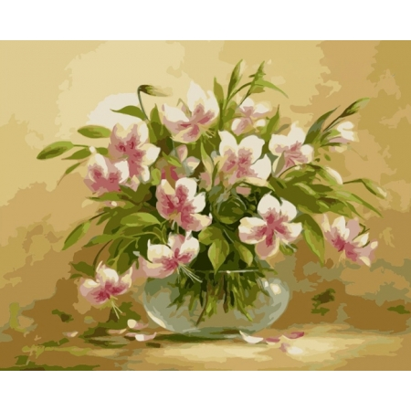 Рисование по номерам. Картина серии Букет 40х50см, Цветочная нежность, Идейка (MG1064)