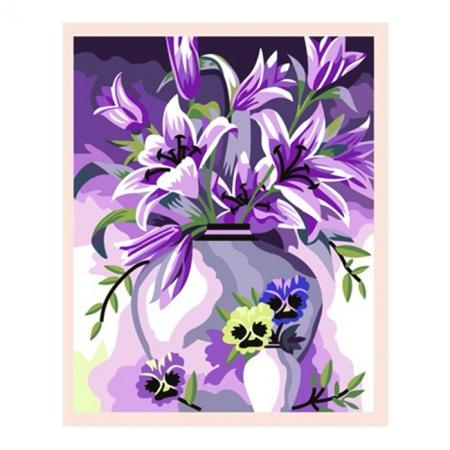 Рисование по номерам. Картина серии Букет 40х50см, Элегантные лилии, Идейка (MG080)