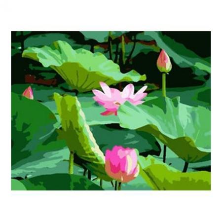Рисование по номерам. Картина серии Цветы 40х50см, Озеро с лотосами, Идейка (MG229)
