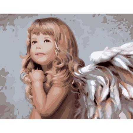 Рисование по номерам. Картина серии Дети 40х50см, Мечты ангела, Идейка (MG338)
