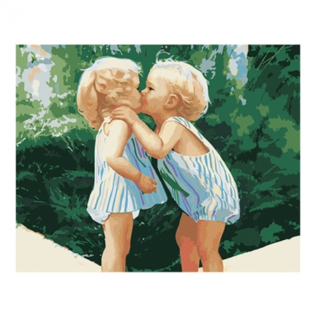Рисование по номерам. Картина серии Дети 40х50см, Ты такая красивая!, Идейка (MG1036)