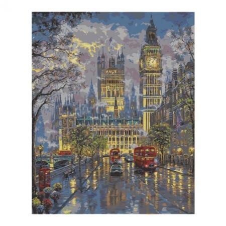Рисование по номерам. Картина серии Городской пейзаж 40х50см, Дворец Вестминстер, Идейка (MG1151)