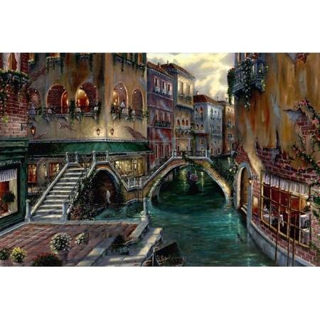 Рисование по номерам. Картина серии Городской пейзаж 40х50см, Романтическая Венеция, Идейка (MG1143)