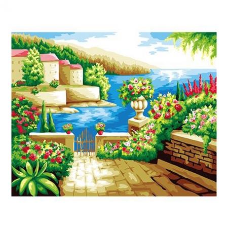 Рисование по номерам. Картина серии Городской пейзаж 40х50см, Солнечная терраса, Идейка (G258)