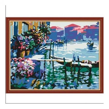 Рисование по номерам. Картина серии Городской пейзаж 40х50см, Утро в Венеции, Идейка (MG227)