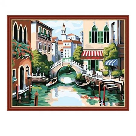 Рисование по номерам. Картина серии Городской пейзаж 40х50см, Венеция, Идейка (MG175)