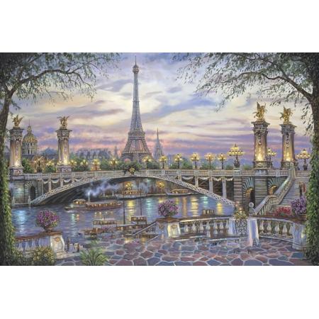 Рисование по номерам. Картина серии Городской пейзаж 40х50см, Воспоминание о Париже, Идейка (MG1148)