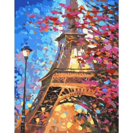 Рисование по номерам Картина серии Городской пейзаж, Краски Парижа, Идейка, KH2129