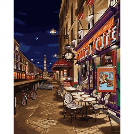 Рисование по номерам Картина серии Городской пейзаж, Ночь в Испании, Идейка, KH2126
