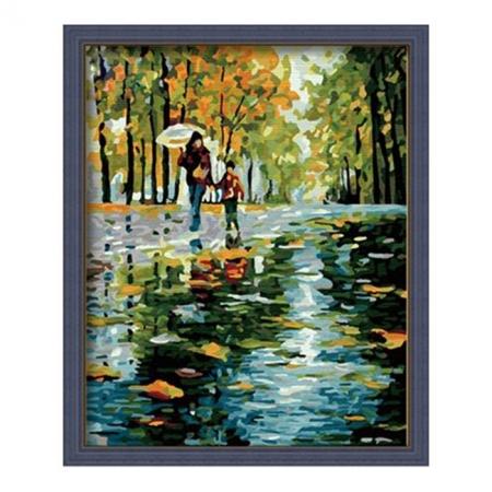 Рисование по номерам. Картина серии Люди 40х50см, Прогулка под дождем, Идейка (MG064)