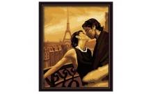 Рисование по номерам Картина серии Люди, Мечтать в Париже, Идейка, KH045