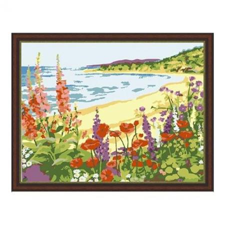 Рисование по номерам. Картина серии Морской пейзаж 40х50см, Романтичный берег, Идейка (MG206)