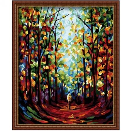 Рисование по номерам. Картина серии Пейзаж 40х50см, Цветастый сквер, Идейка (G224)