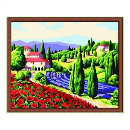 Рисование по номерам. Картина серии Пейзаж 40х50см, Приглашение в Прованс, Идейка (MG083)