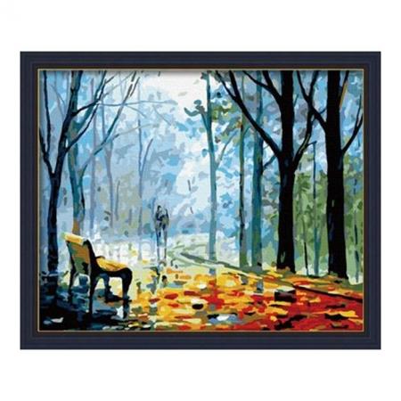 Рисование по номерам. Картина серии Пейзаж 40х50см, Скамейка в осеннем парке, Идейка (MG041)