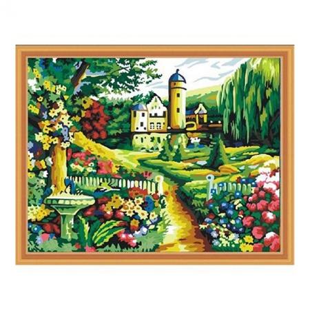 Рисование по номерам. Картина серии Пейзаж 40х50см, Замок и парк, Идейка (MG251)