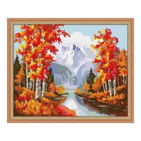 Рисование по номерам. Картина серии Пейзаж 40х50см, Золотая осень, Идейка (MG013)