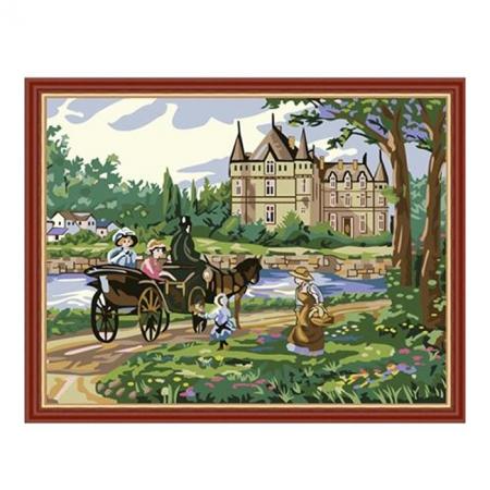 Рисование по номерам. Картина серии Сельский пейзаж 40х50см, Дорога в замок, Идейка (MG198)